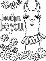 Coloring Llama Colouring Android Wallpapers Pretty sketch template