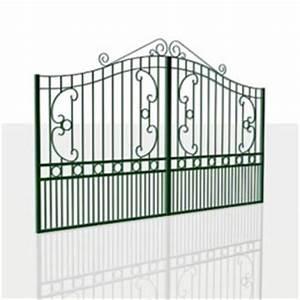 Portail 4 Metres 2 Vantaux : portail battant 2 vantaux fer forg ciotat blanc 4m ~ Edinachiropracticcenter.com Idées de Décoration