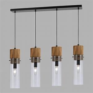 Wood and glass light pendant lamp world market