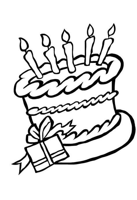 Verjaardagstaart Kleurplaat Printen by Kleurplaat Verjaardagstaart Verjaardag Birthday