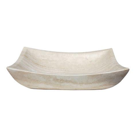 rectangular stone vessel sink shop eden bath white travertine stone vessel rectangular