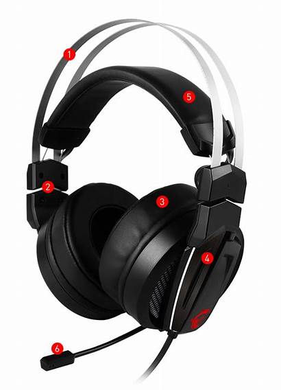 Gaming Headset Gh60 Msi Immerse Microphone Ear