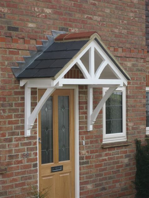 nice design timber door canopy  front