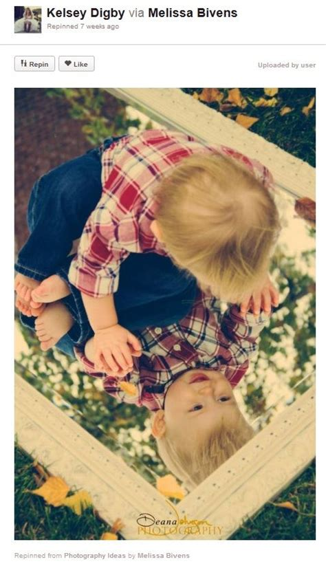 baby photography ideas baby smiling mirror