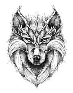 Mandala loup | T.A.T.O.O. | Pinterest | Tatoo