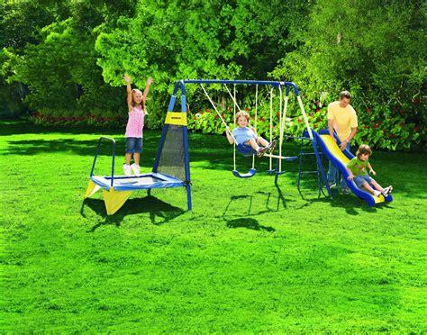 Backyard Metal by Sportspower Jump N Swing Metal Backyard Swing Set