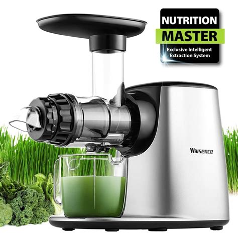 juicer machine juice masticating extractor slow press master cold nutrition reverse function clod vegetable fruits system bpa parts extractors juicers