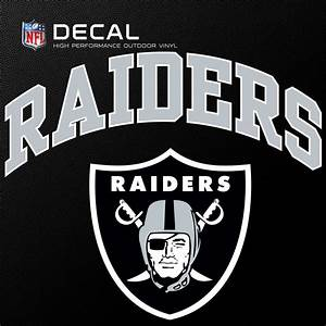 stockdale 6quotx6quot nfl outdoor logo vinyl oakland raiders With raiders letters