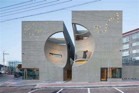beautiful cultural center building  moon carved