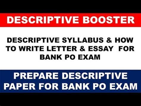 sbi po exam  descriptive paper syllabus