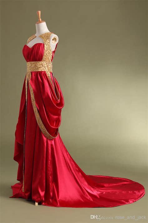 2015 Hot Discount Red Gold Beaded Burgundy Evening Dress ...