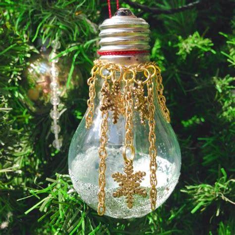 creative ideas diy light bulb christmas ornaments