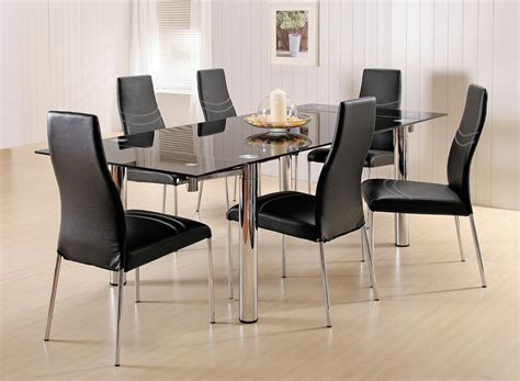 modern black dining table and chairs the best modern dining room sets amaza design