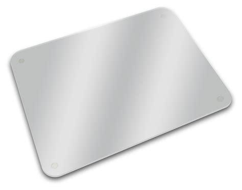 plateau verre trempé bureau planche à découper dessous de plat plateau 40 x 30 cm
