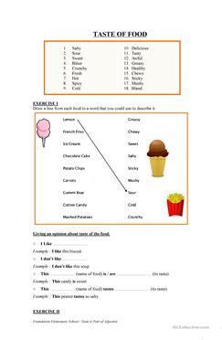english esl taste worksheets  downloaded  results