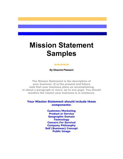 mission statement template mission statement template great printable calendars