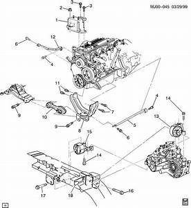 Chevrolet Cavalier Bolt  Engine Mounting  Transmission