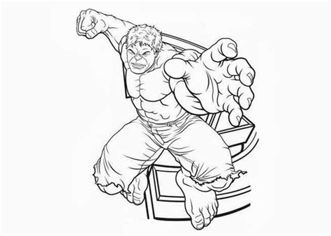 hulk coloring pages getcoloringpagescom
