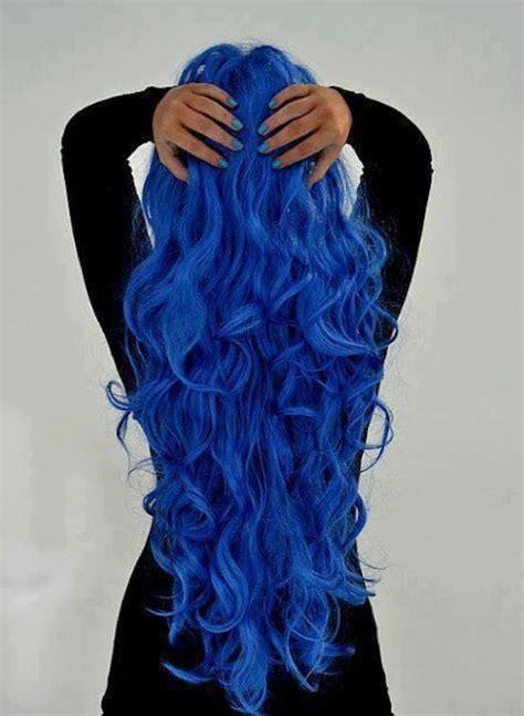 hair color idea amazing royal blue wavy waterfall