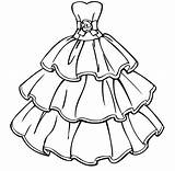Coloring Dress Pages Olds sketch template