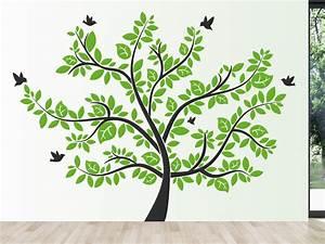 Laubbaum Mit Roten Blättern : wandtattoo lebensbaum mit gro er baumkrone wandtattoo de ~ Frokenaadalensverden.com Haus und Dekorationen
