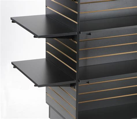 Black Melamine Slatwall Shelving Flat Panel