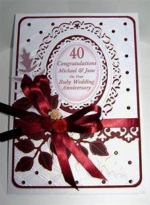 and 40th ruby anniversary cards wedding anniversary With images of ruby wedding anniversary cards