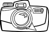 Camera Cartoon Line Clipart Clipartbest Rg Coloring Pages sketch template
