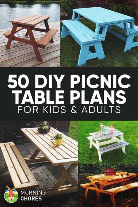 diy picnic table plans  ideas   bring