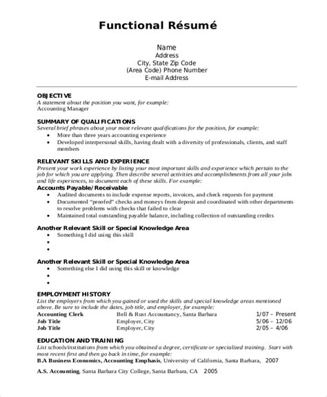 Functional Resume Formats by Functional Resume Format Exle Dscmstat Us Dscmstat Us