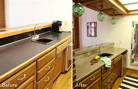 countertop cabinet for kitchen how to make your own diy concrete countertops the easy 5933