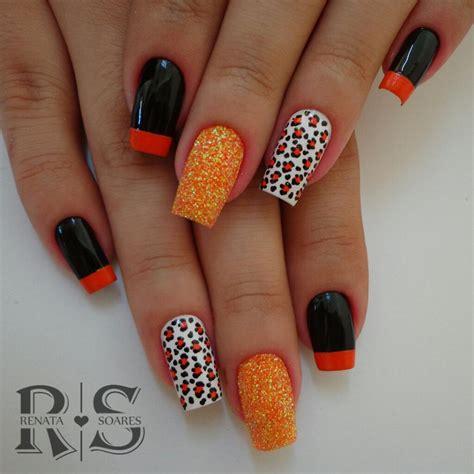 unhas laranjas lindas  poderosas
