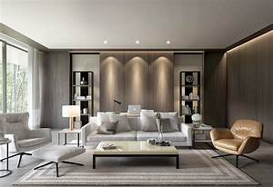 Modern, Style, Monochromatic, Taupe, Grey, Living, Room, Decor, With, Restoration, Hardware, Style, Sofa