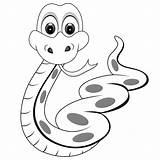 Snakes Coloring Pages Printable Snake Simple Cartoon Filminspector sketch template