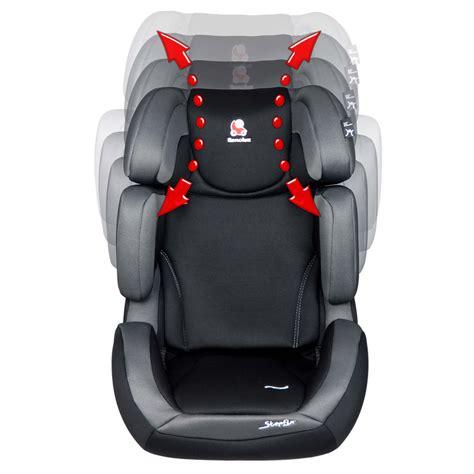 siege auto isofix groupe 2 3 inclinable siège auto stepfix total black groupe 2 3 de renolux sur