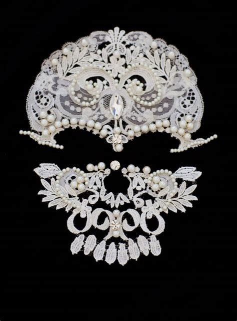 lace applique lace skull handmade applique oj fashion
