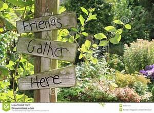Garden Sign Stock Photos - Image: 21321723