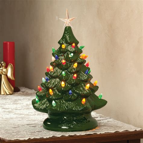 how to make a ceramic christmas tree grandmas retro nostalgic ceramic green glaze lighted table top tree ebay