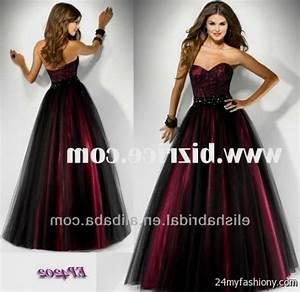 red and black puffy prom dress 2016-2017   B2B Fashion