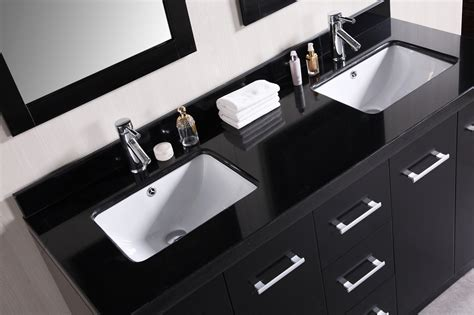 Furniture Attractive Bathroom With Double Sink Vanities