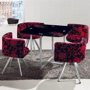 Table Et Chaise Scandinave : table scandinave et chaises vintage 90 fleurs rouge et ~ Melissatoandfro.com Idées de Décoration
