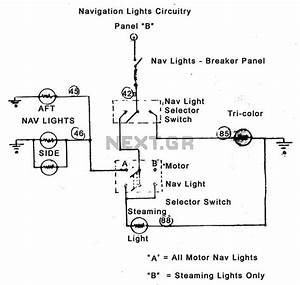 U0026gt  Circuits  U0026gt  Diagram Showing Navigation Lights On A Boat L20458