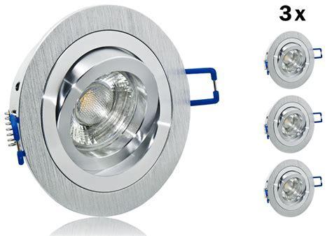 3er LED Einbauset 9 SMD Lc Light mit Alu BiColor Rahmen