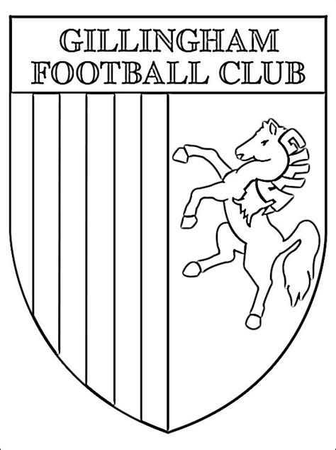 coloriage de logo gillingham football club coloriage
