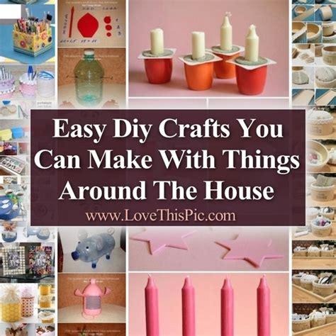easy diy crafts        house