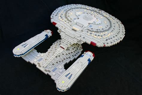 jahre star trek lego moc uss enterprise ncc
