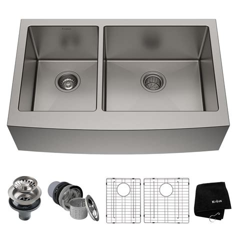 kraus standart pro farmhouse apron front stainless steel