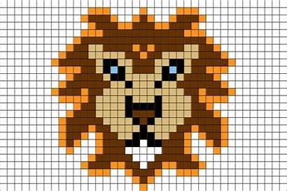 Pixel Lion Facile Dessin Disney Animaux Roi