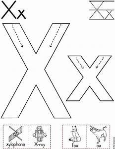 Alphabet Letter X Worksheet | Standard Block Font ...