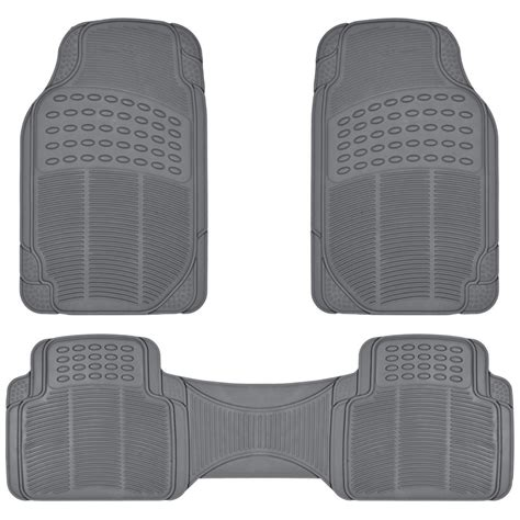 Custom Mats - rubber liner for honda cr v floor mats gray 3 semi